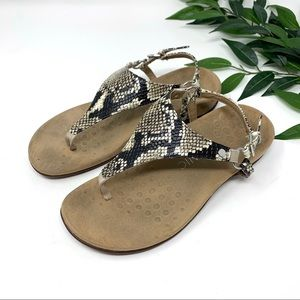 Vionic Kirra Flip Flop Snakeskin Comfort Sandal 7